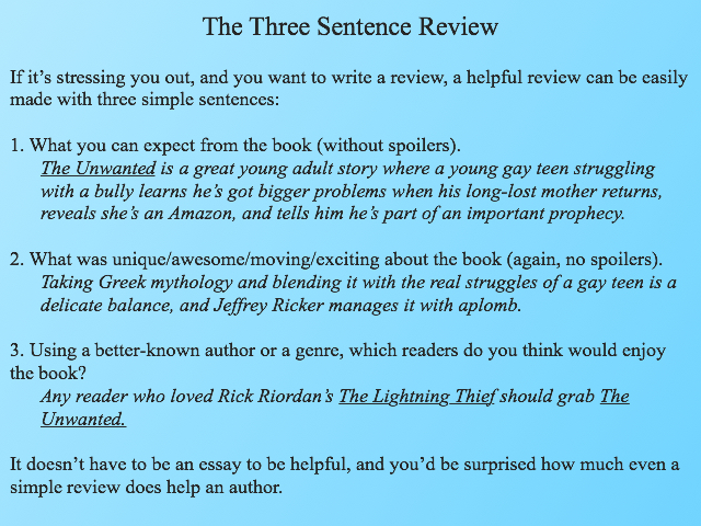 three-sentence-review