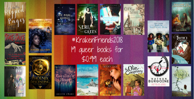 An image of the nineteen participating books that are on sale for $0.99 each.